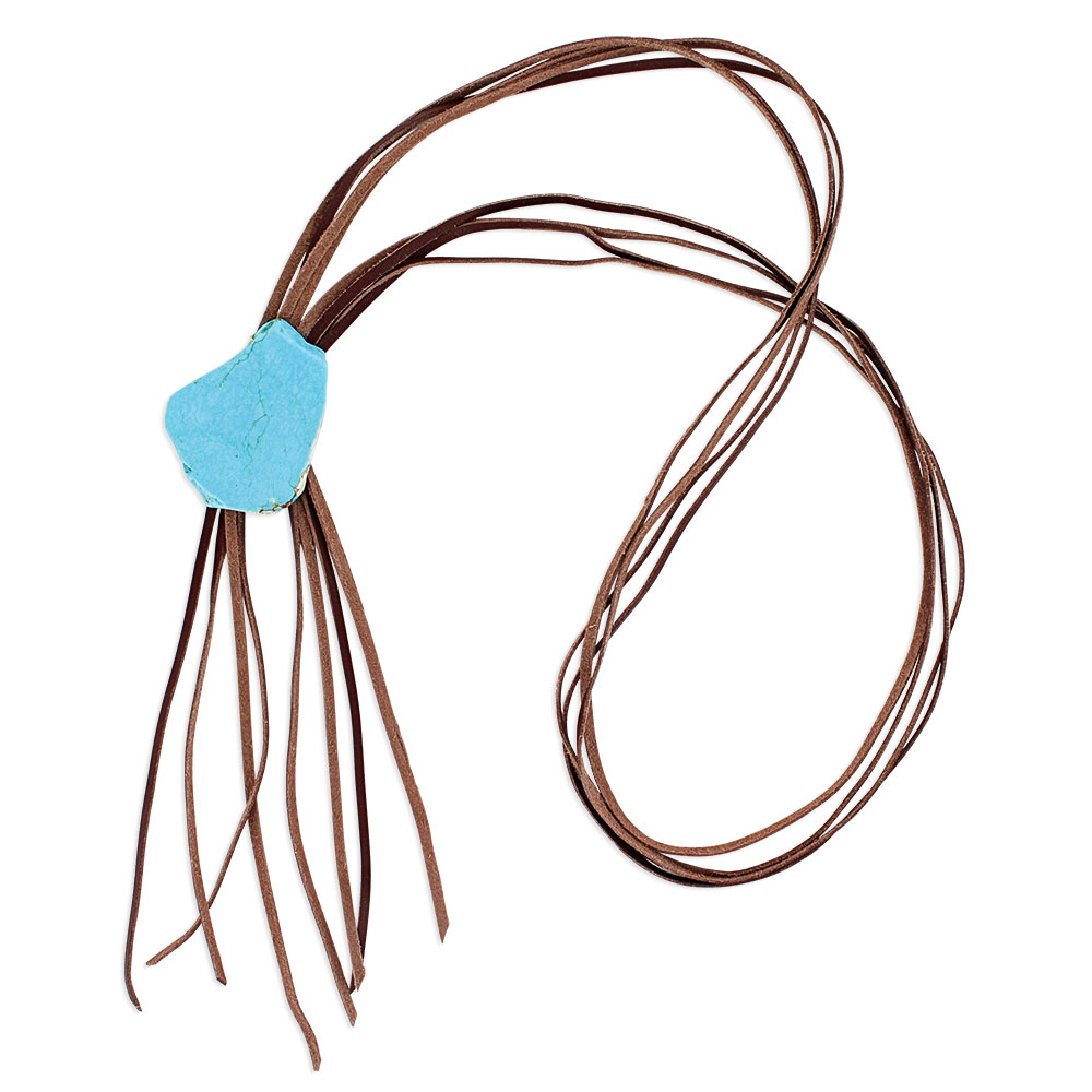 Simplistic Corded Leather Attitude Necklace