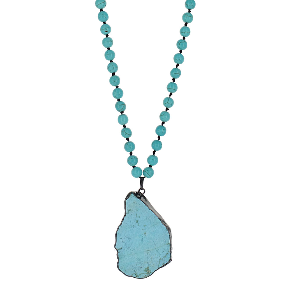 Turquoise All Day Beaded Attitude Necklace