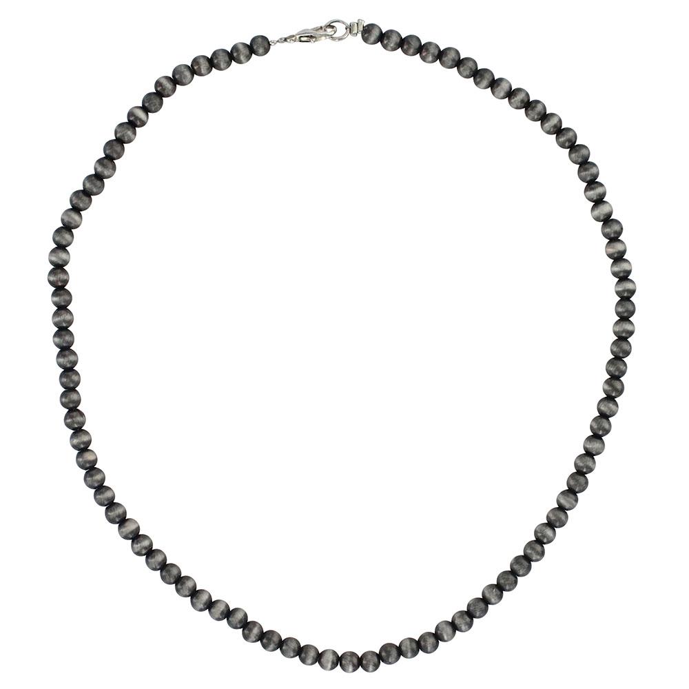Midnight Silver Mini Beaded Strand Attitude Necklace