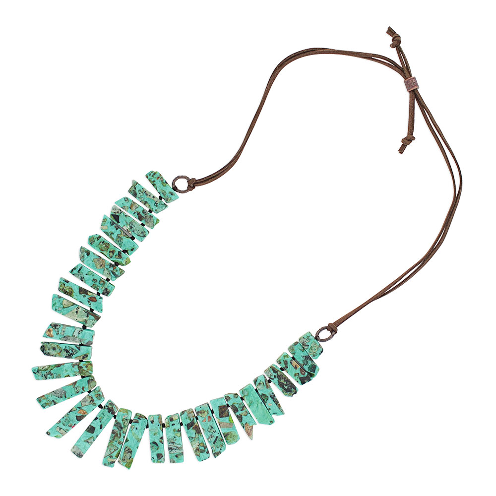 Jade's Chunky Leather Attitude Necklace