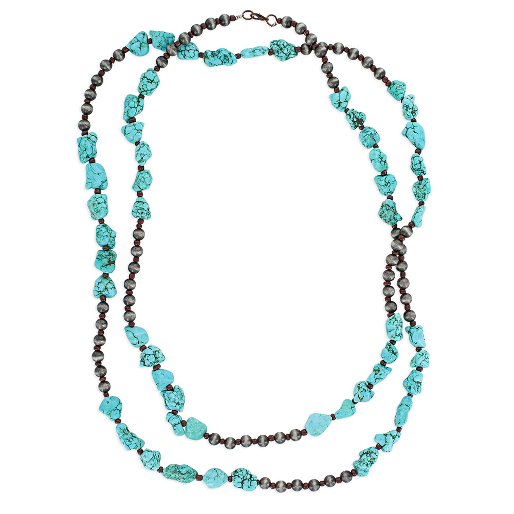 Stacked Turquoise Layered Attitude Necklace