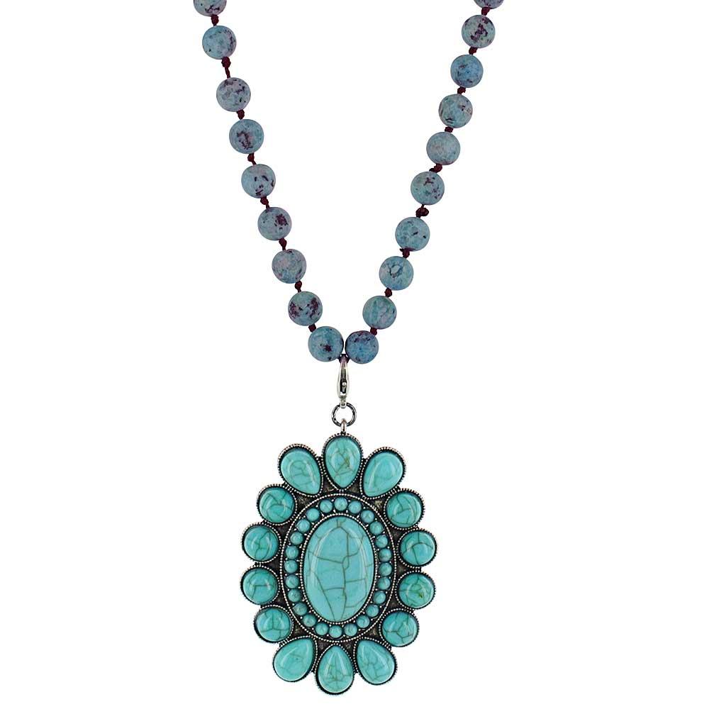 Revolving Teardrops Turquoise Attitude Necklace