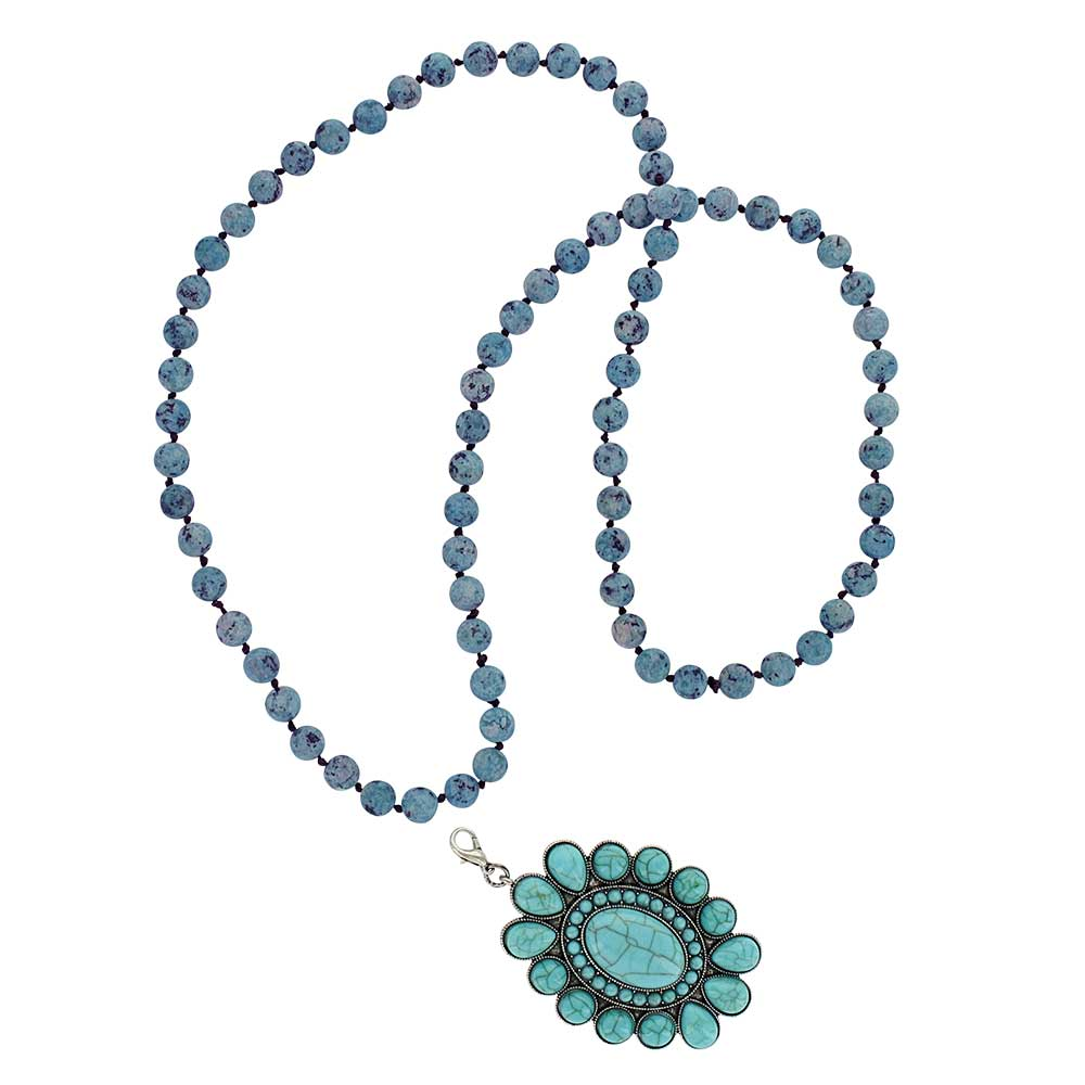 Revolving Teardrops Turquoise Attitude Necklace