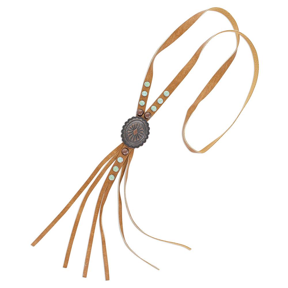 Minimal Gem Corded Leather Attitude Necklace