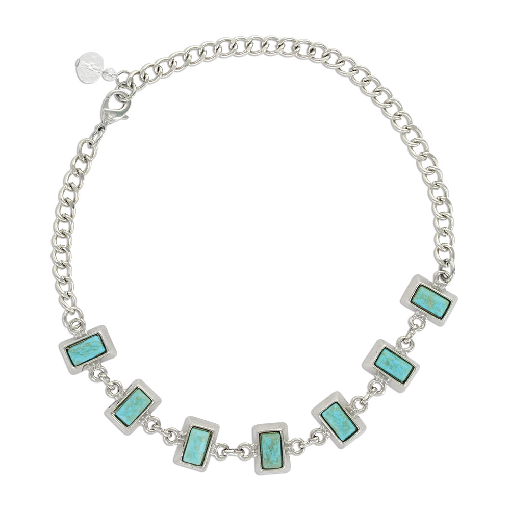 Starlight Turquoise Choker Attitude Necklace