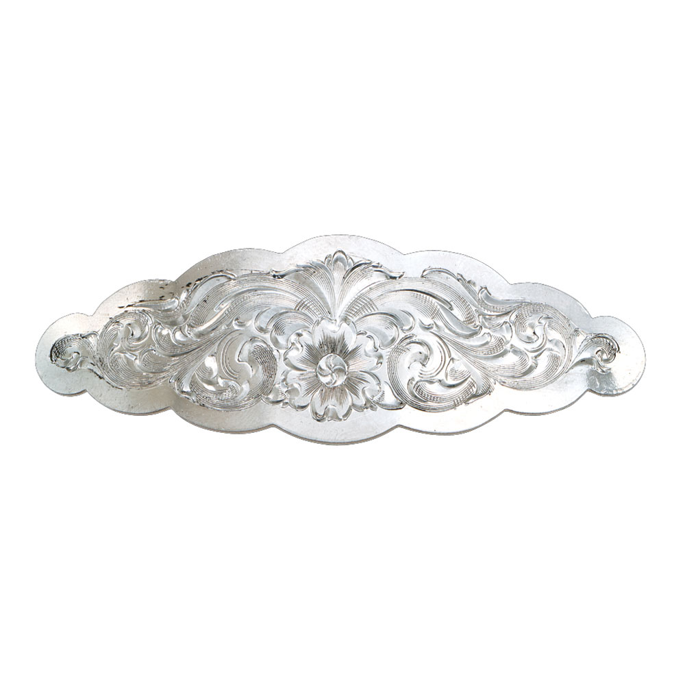 Small Scalloped Montana Silver Barrette