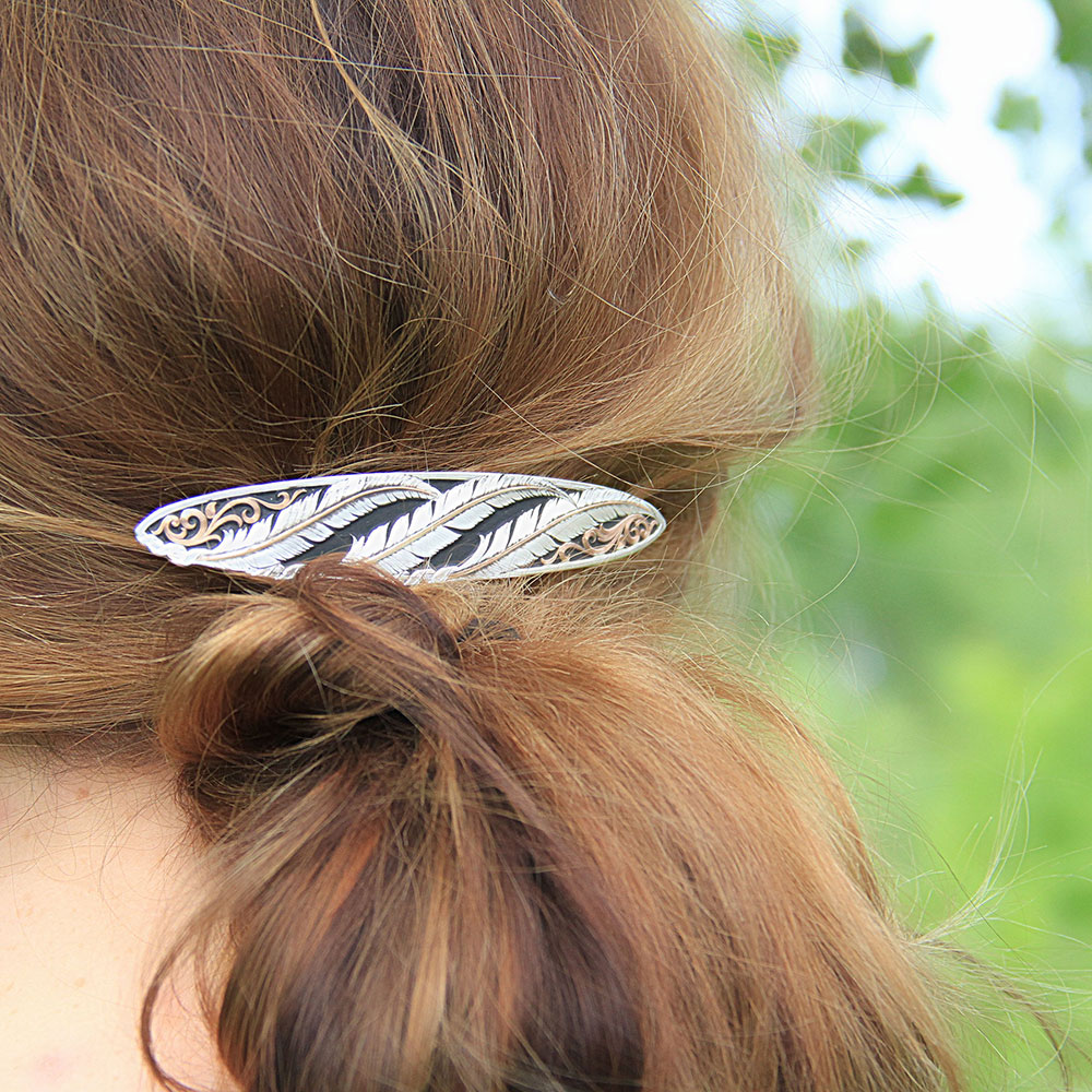 Wind Dancer Feather Barrette
