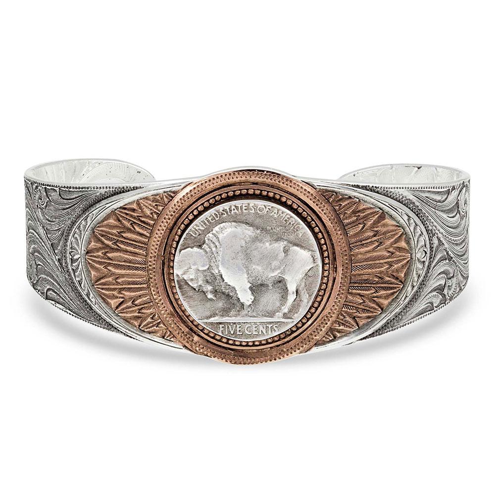 Buffalo Feather Cuff Bracelet