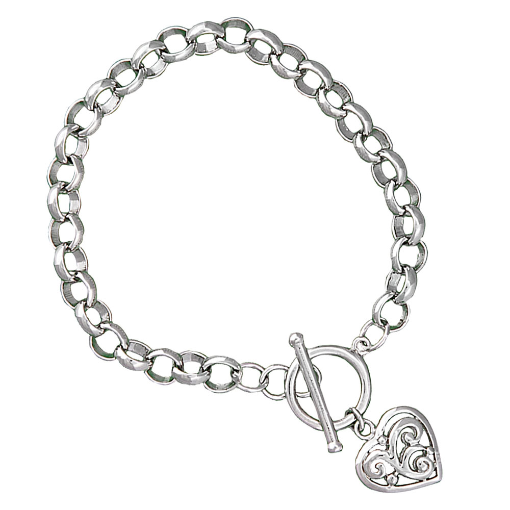 Swept Away Heart Charm Bracelet