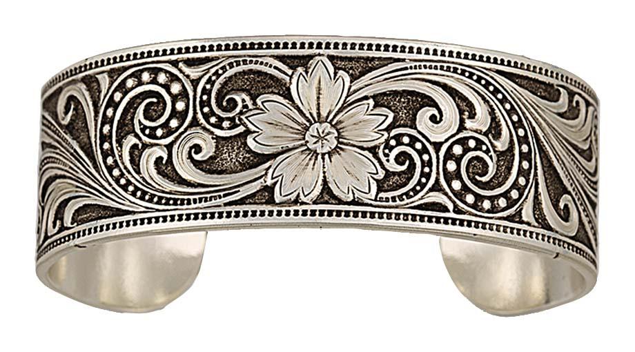 Western Lace Whisper Garden Cuff Bracelet