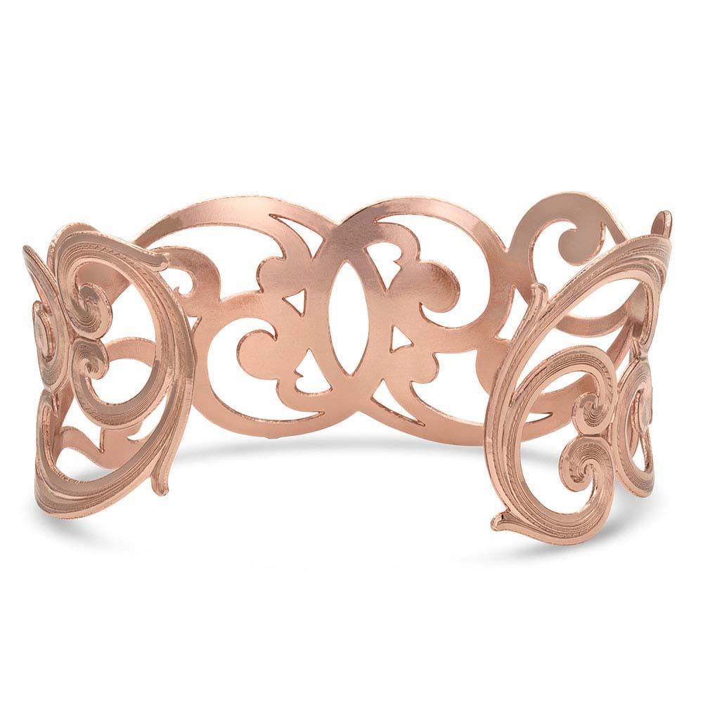 No Boundaries Rose Filigree Scroll Bracelet