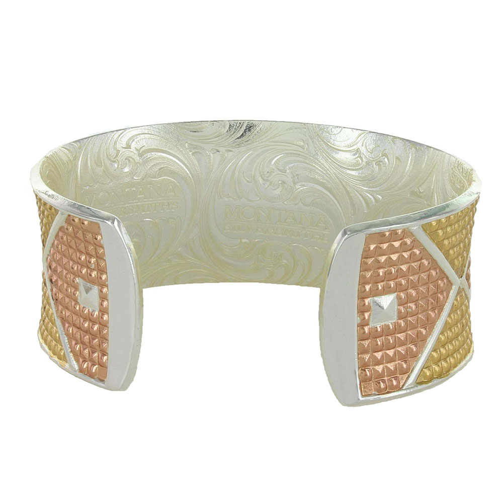Bright Lights Tri-Color Wide Cuff Bracelet
