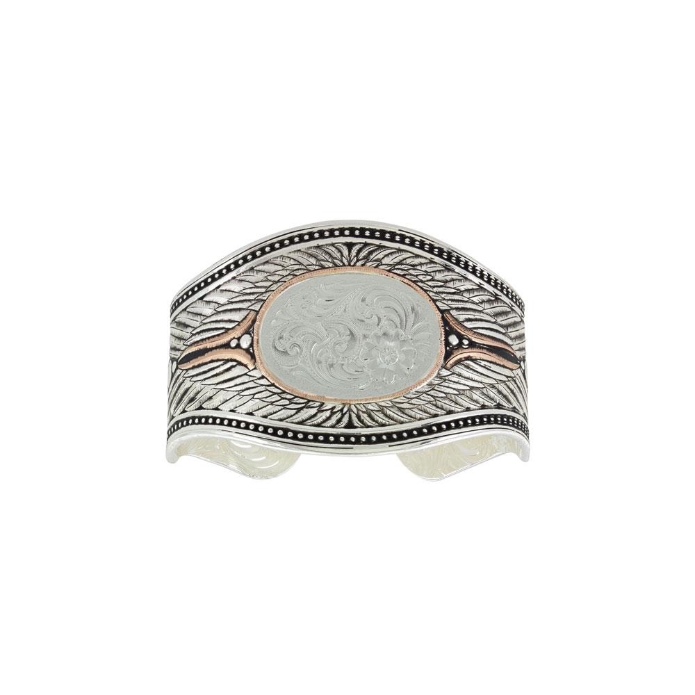 Custom Feathered Cuff Bracelet (1.38