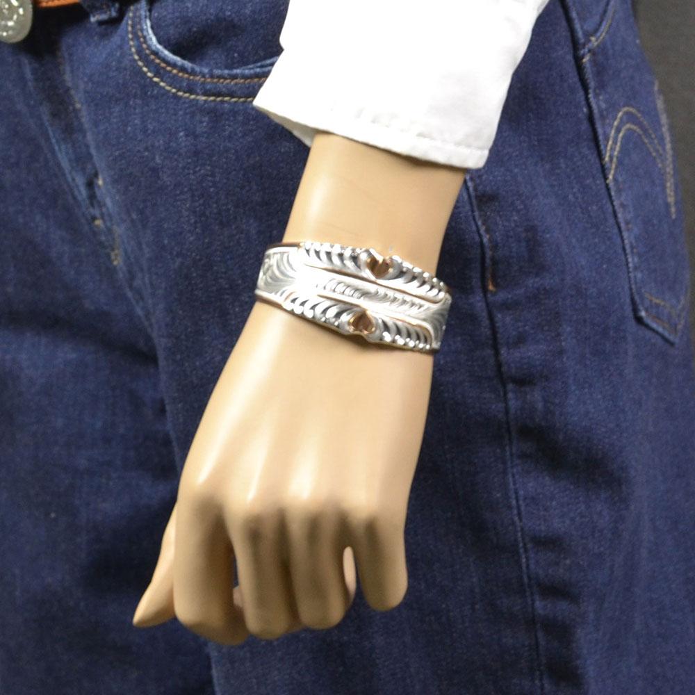Two Tone Bright Hearts Cuff Bracelet