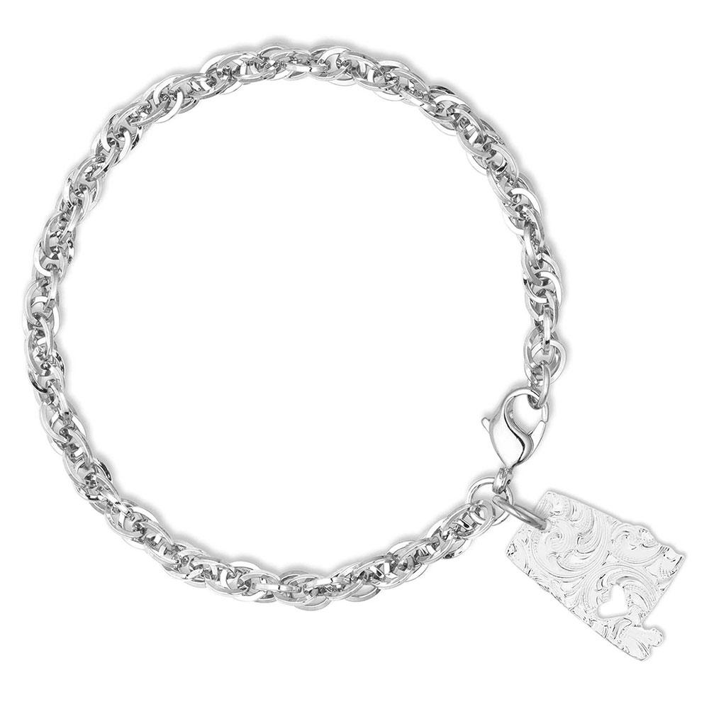 I Heart Alabama State Charm Bracelet