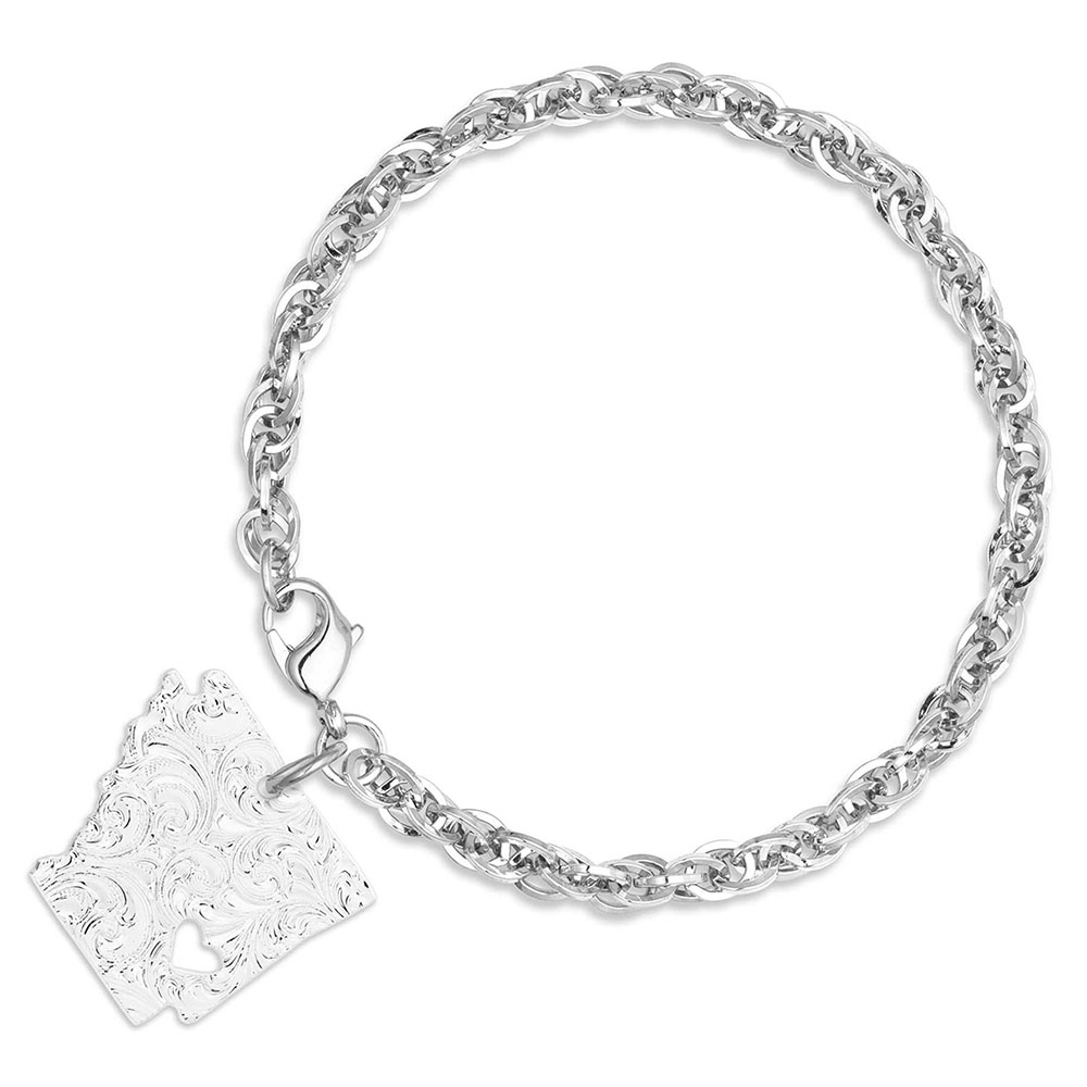 I Heart Arkansas State Charm Bracelet