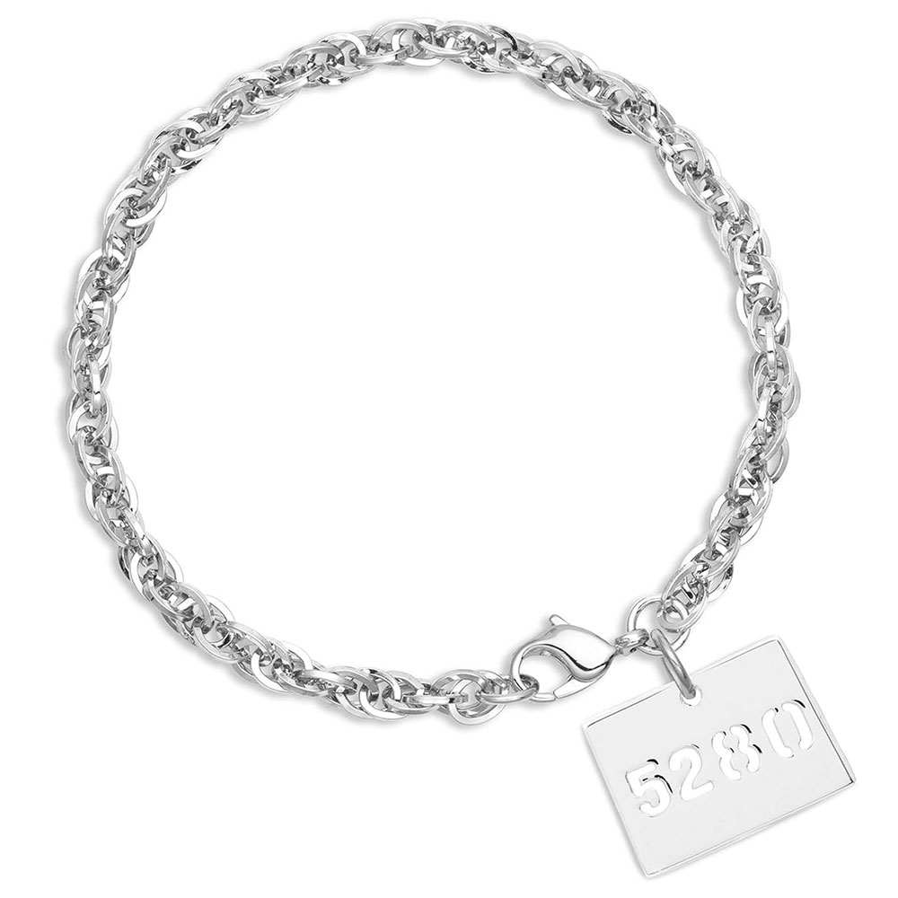 I Heart Colorado State Elevation Charm Bracelet