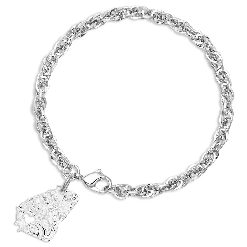 I Heart Georgia State Charm Bracelet