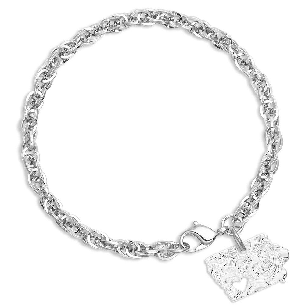 I Heart Iowa State Charm Bracelet