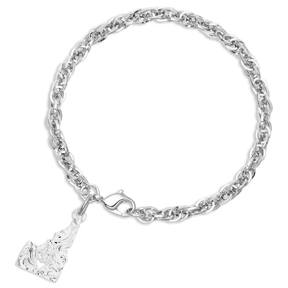 I Heart Idaho State Charm Bracelet