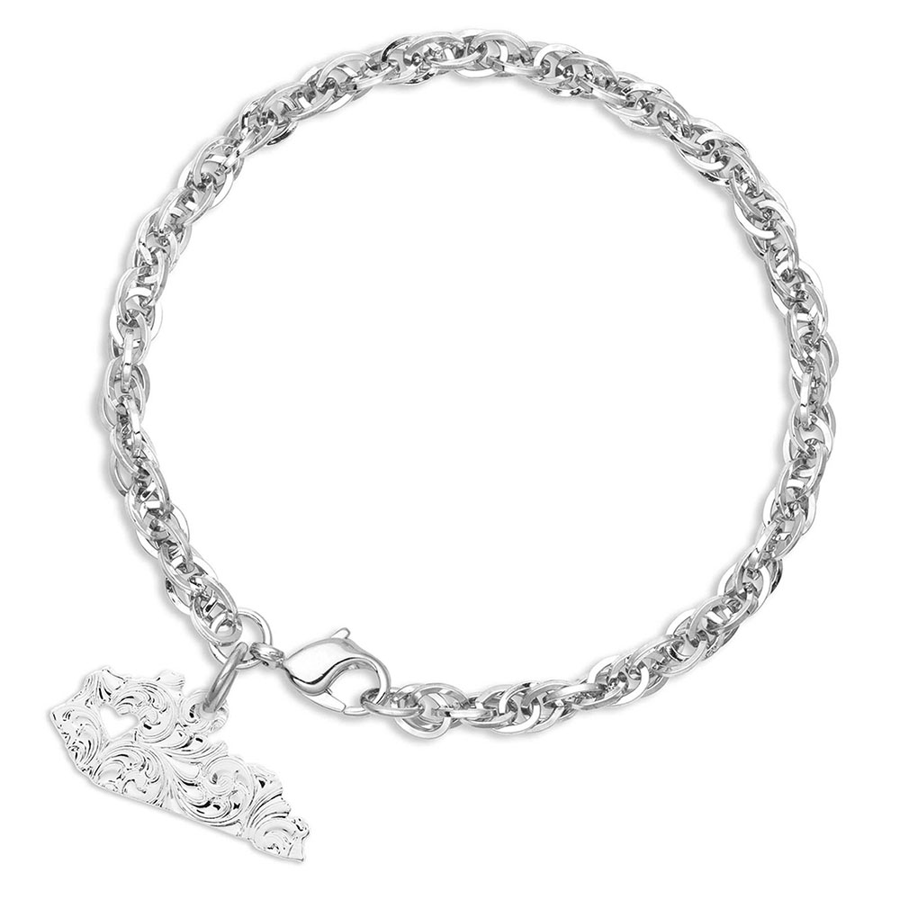 I Heart Kentucky State Charm Bracelet