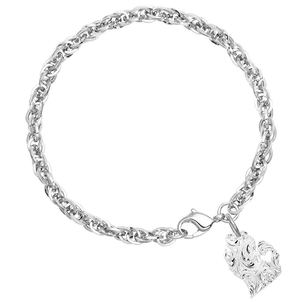 I Heart Michigan State Charm Bracelet