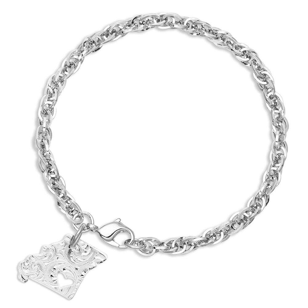 I Heart Missouri State Charm Bracelet