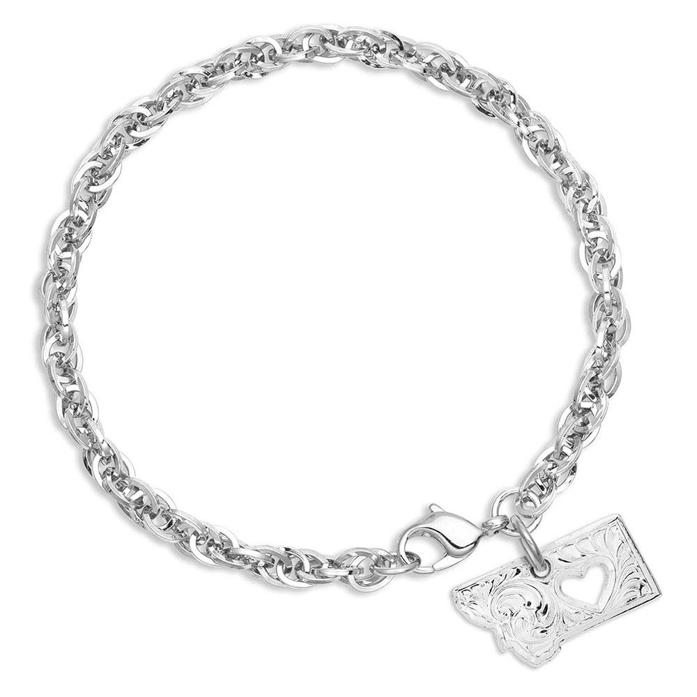 I Heart Montana State Charm Bracelet