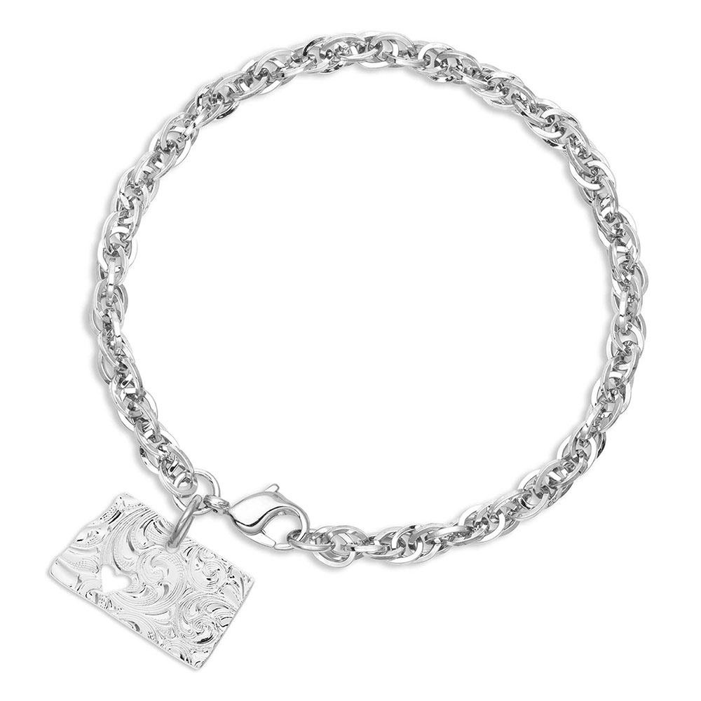 I Heart North Dakota State Charm Bracelet