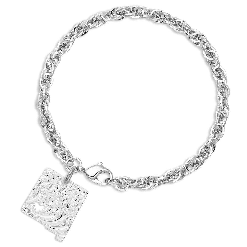 I Heart New Mexico State Charm Bracelet