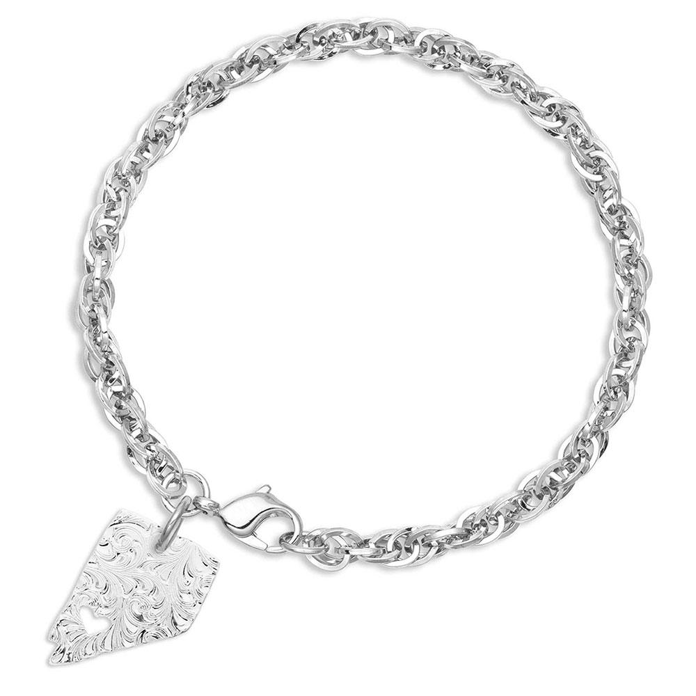 I Heart Nevada State Charm Bracelet