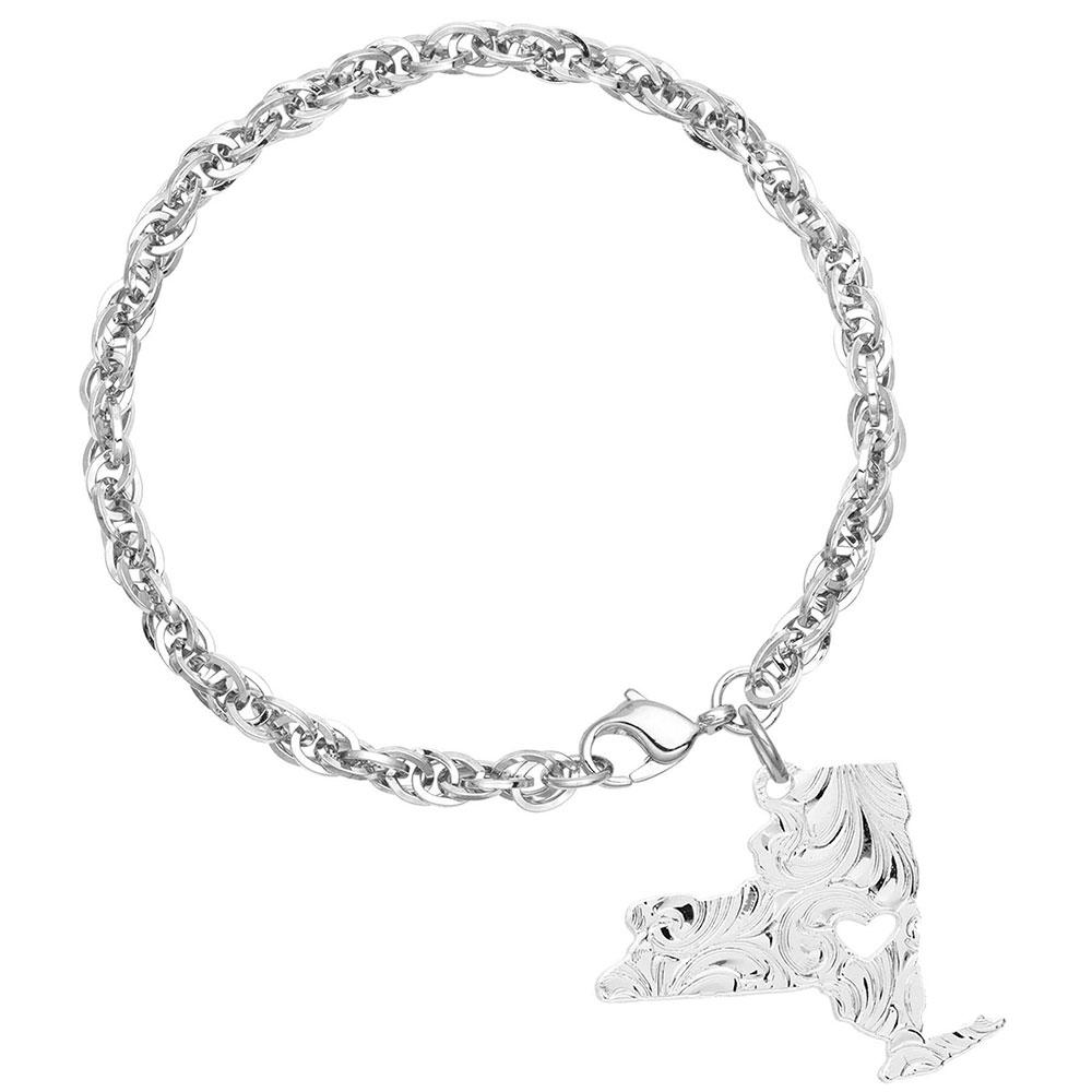 I Heart New York State Charm Bracelet