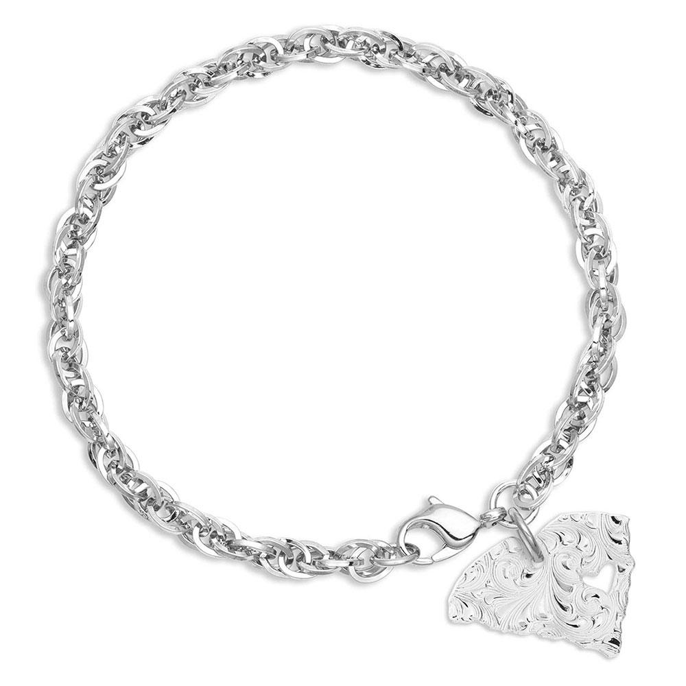 I Heart South Carolina State Charm Bracelet