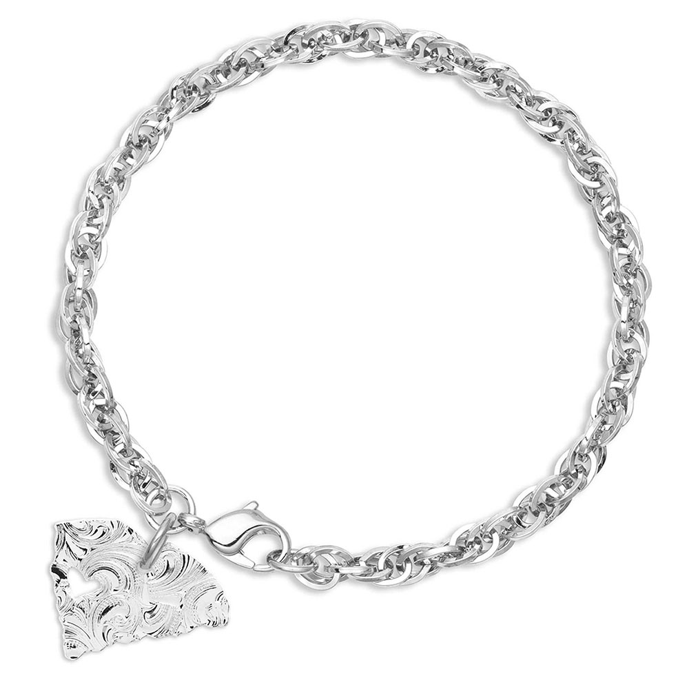 I Heart South Carolina State Charm Bracelet
