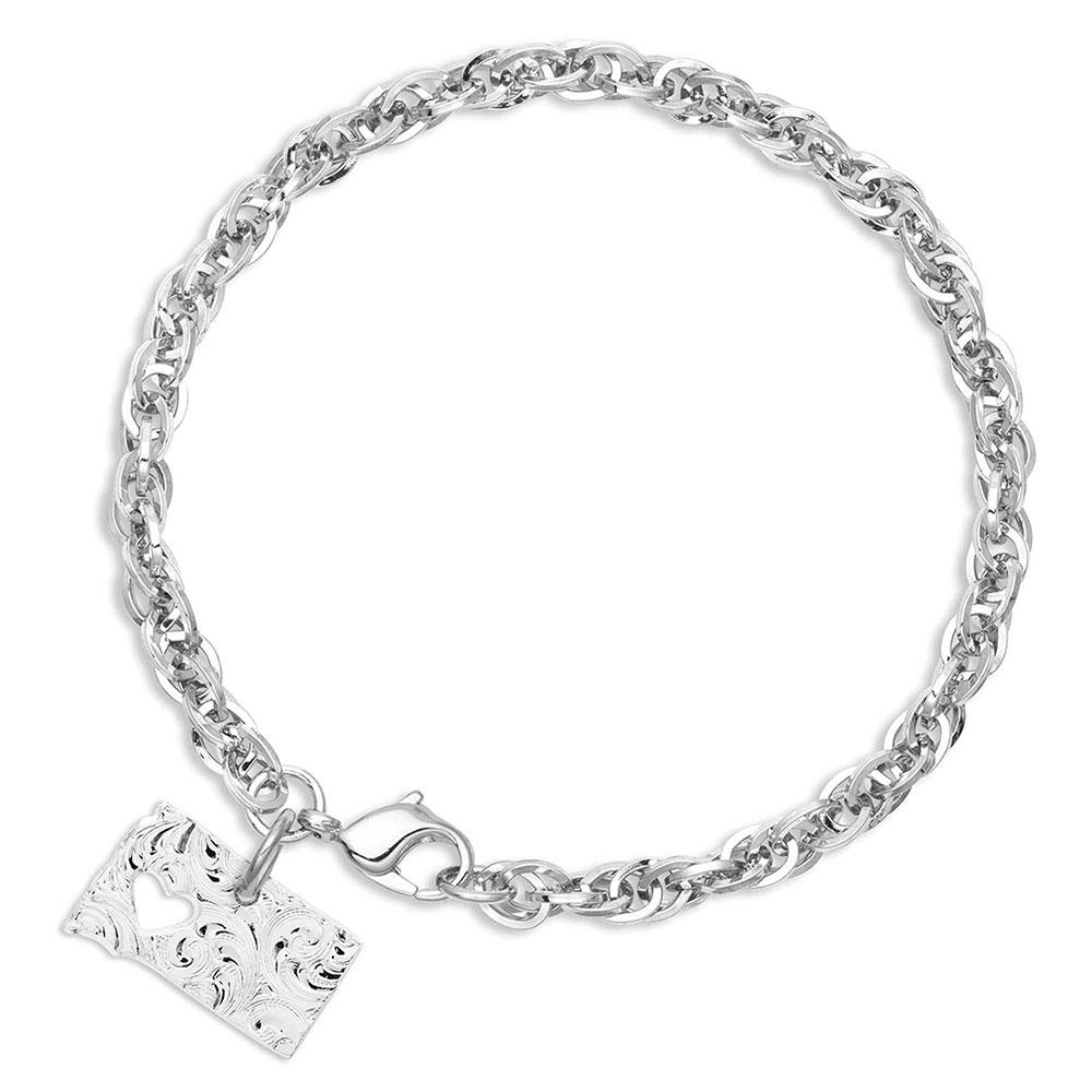 I Heart South Dakota State Charm Bracelet
