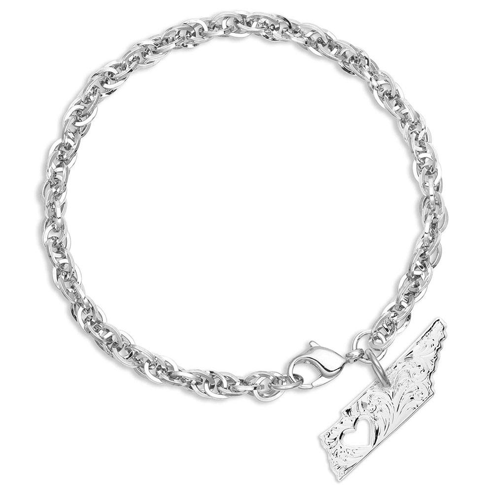 I Heart Tennessee State Charm Bracelet