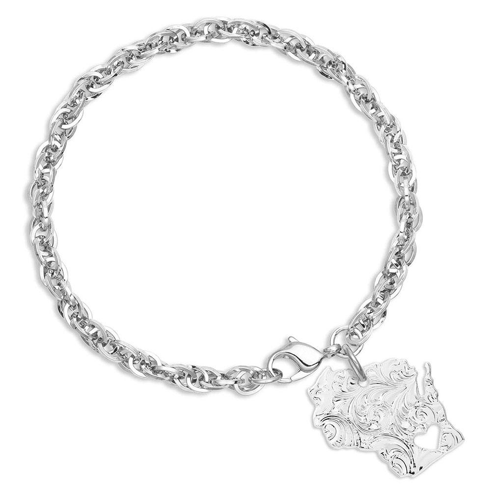 I Heart Wisconsin State Charm Bracelet