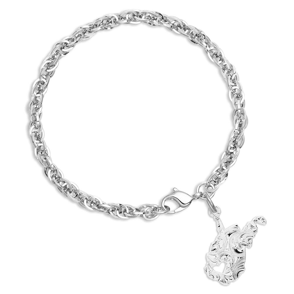 I Heart West Virginia State Charm Bracelet
