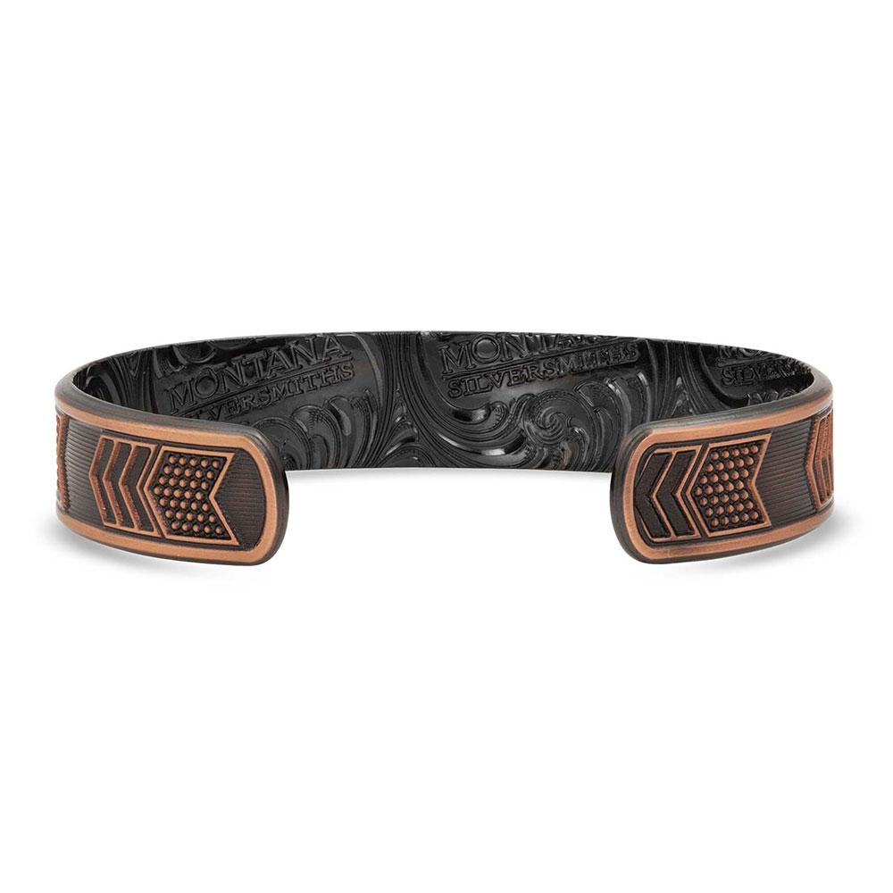 Vintage Bronze Patriotic Cuff Bracelet