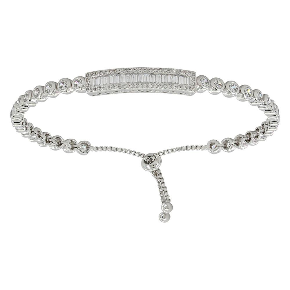 Baguette Lariat Bracelet