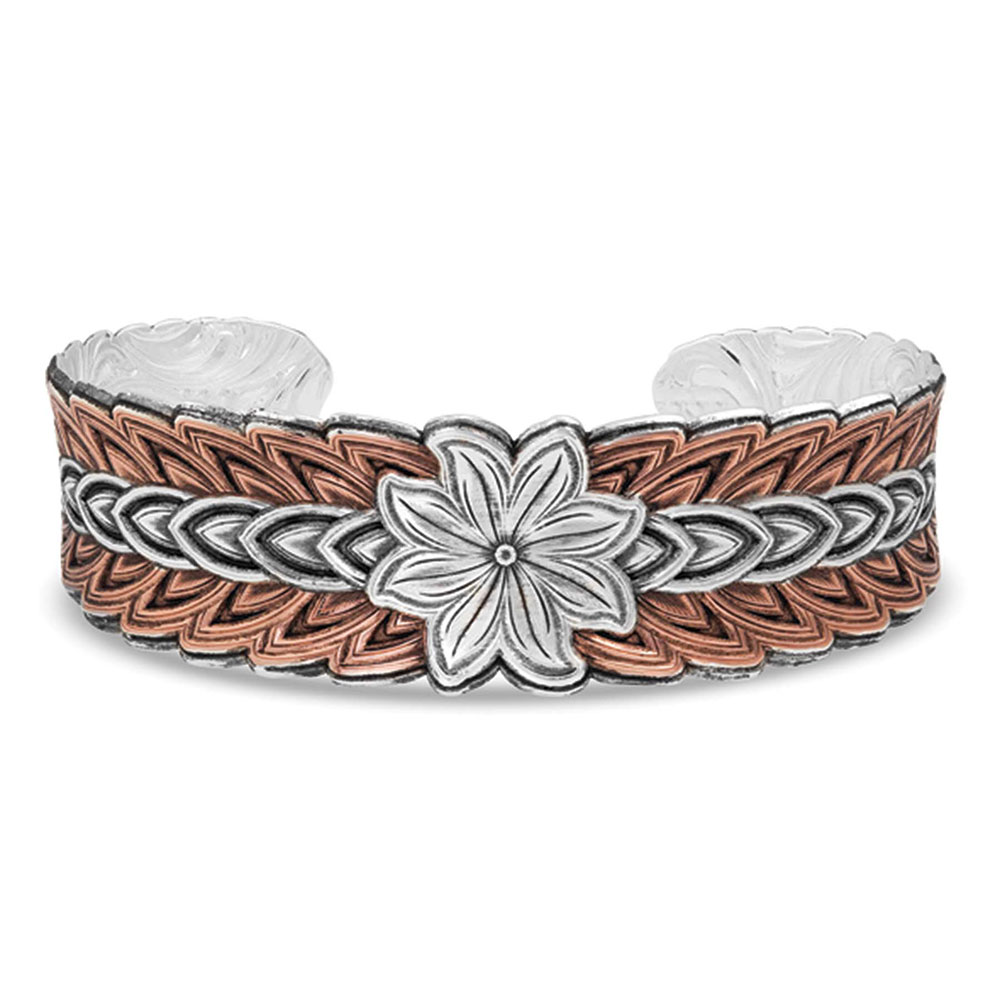 Touched by Sunlight Falling Petals Cuff Bracelet