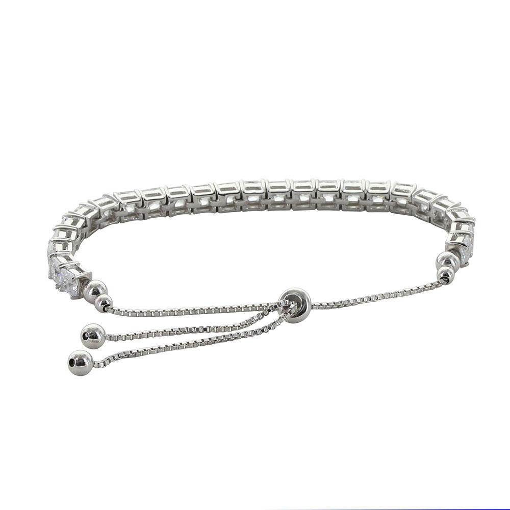 Squarely a Tennis Bolo Bracelet