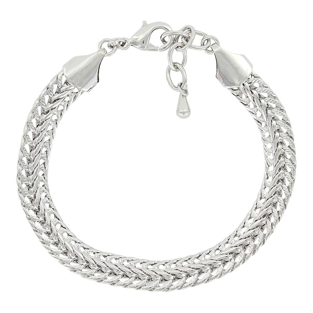 Woven In A Chain Link Bracelet