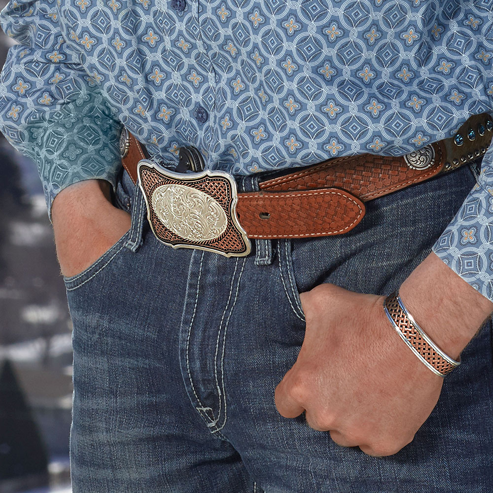 Classic Legacy Weave Crossing Paths Cuff Bracelet