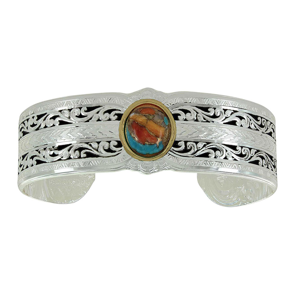Sweet Memories Mountain Glacier Turquoise Cuff Bracelet
