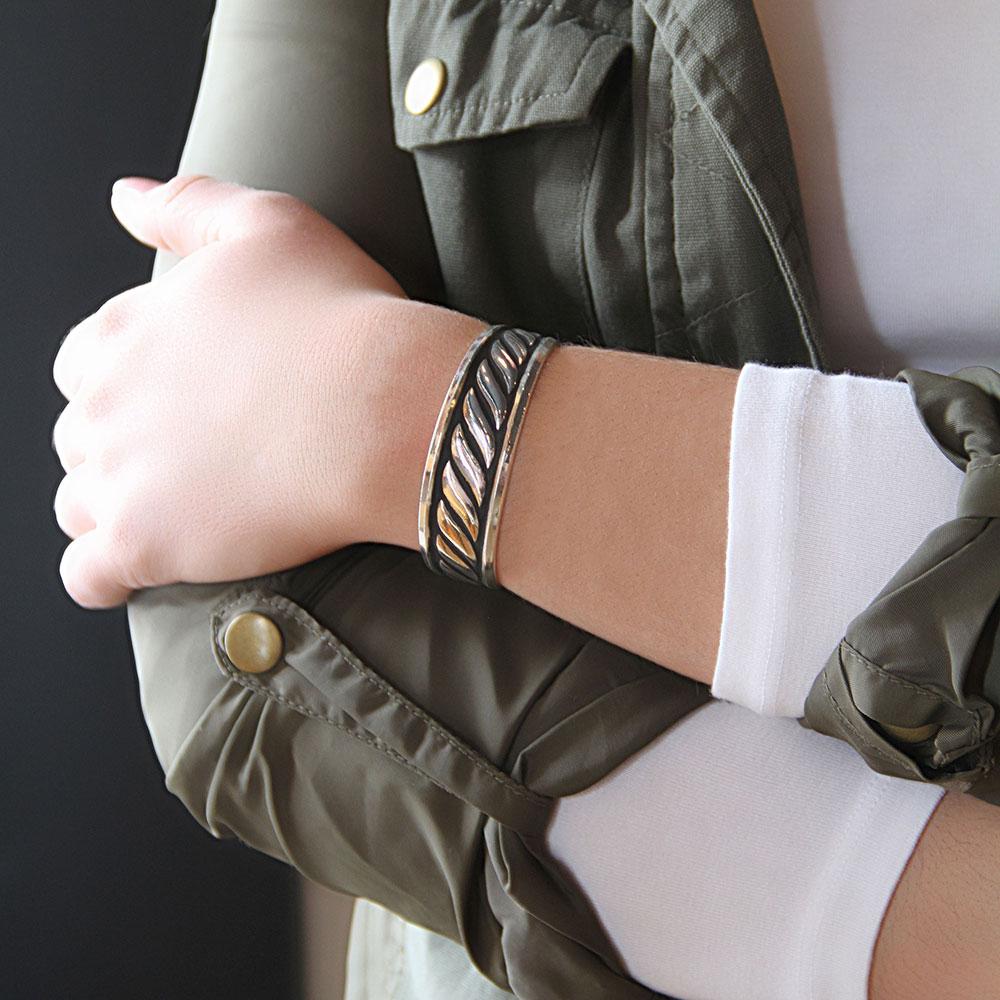 Twisted Rope Cuff Bracelet