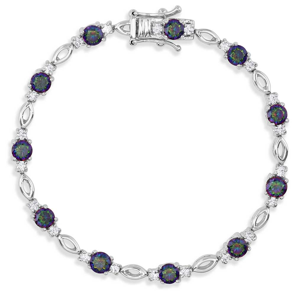 Northern Lights Skip Stone Bracelet