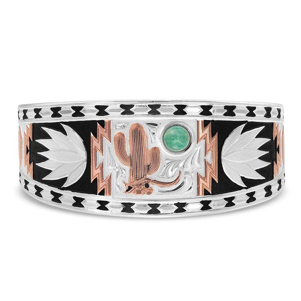 Desert Serenade Cactus Cuff Bracelet
