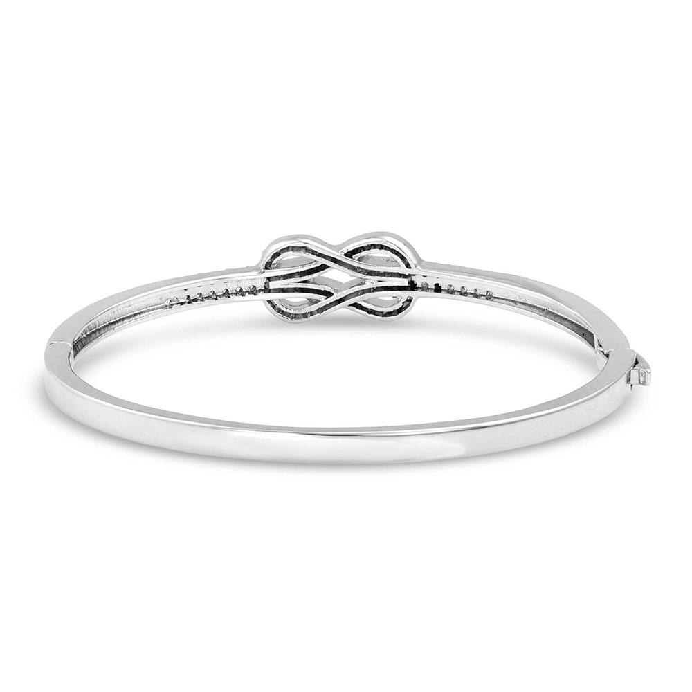 Forever & Always Knot Bangle Bracelet