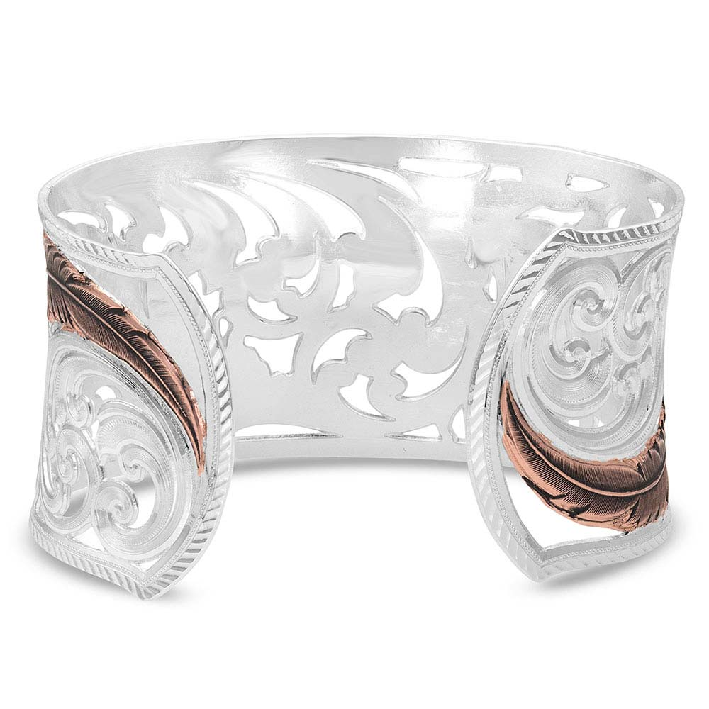 Heavenly Whispers Feather Cuff Bracelet